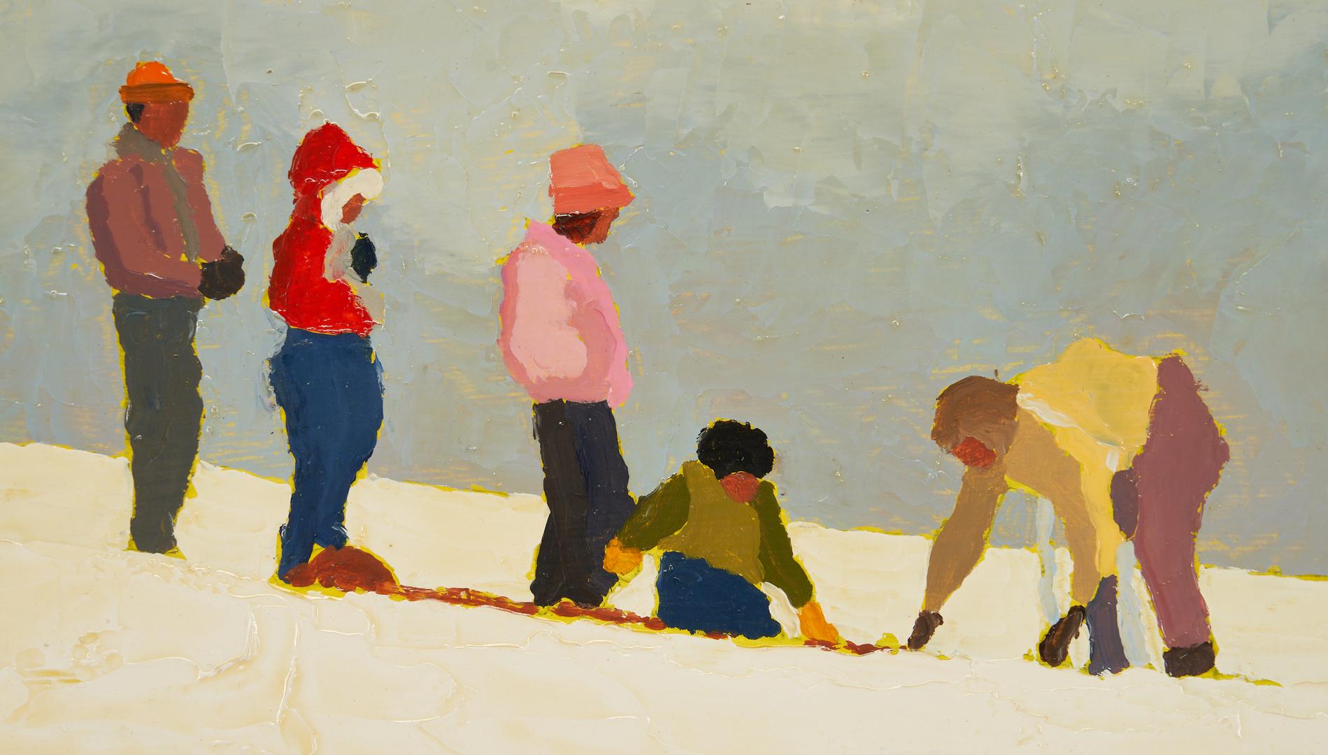 Lot 360: Harold Kraus O/B Painting, Snow Day #3