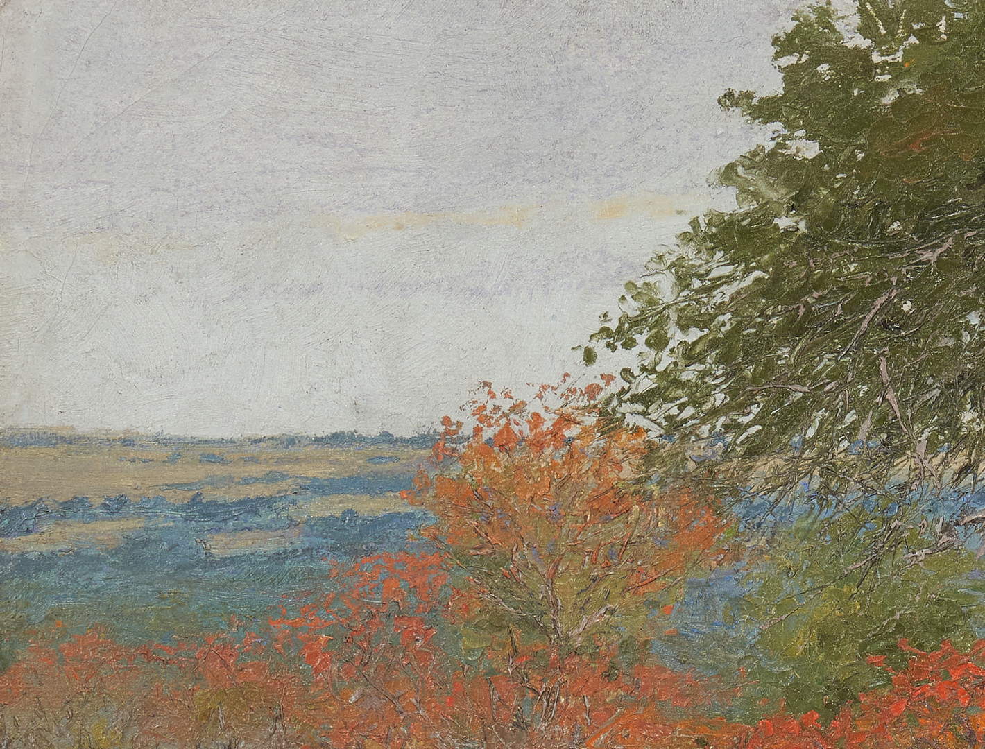 Lot 361: Louis Oscar Griffith Oil Landscape, poss. Texas