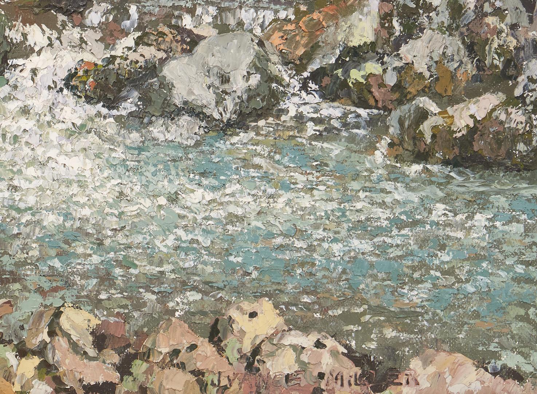 Lot 364: Vance Miller O/B Painting, Mountain Stream