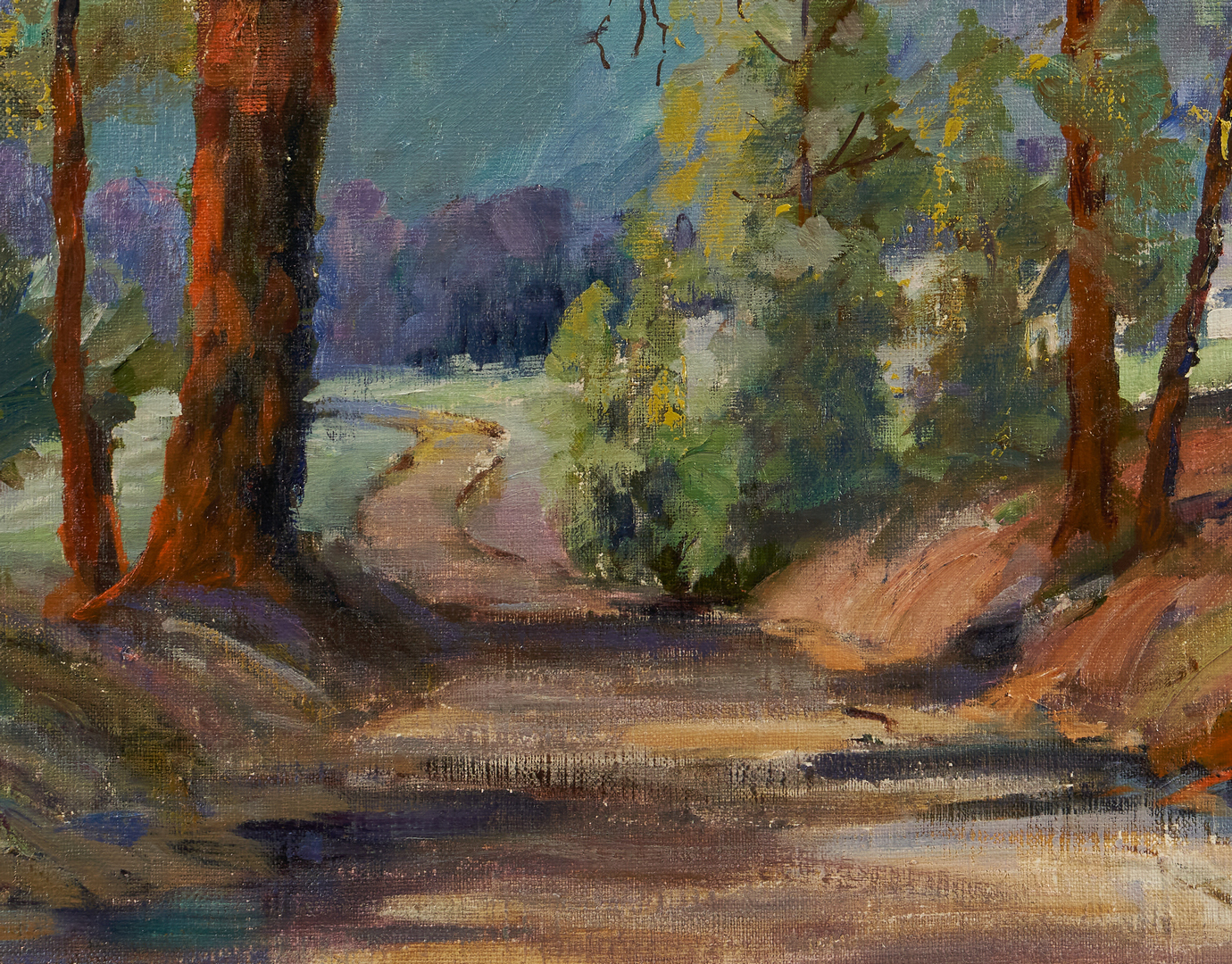 Lot 365: Olive Chaffee O/C Painting, Mountain Landscape