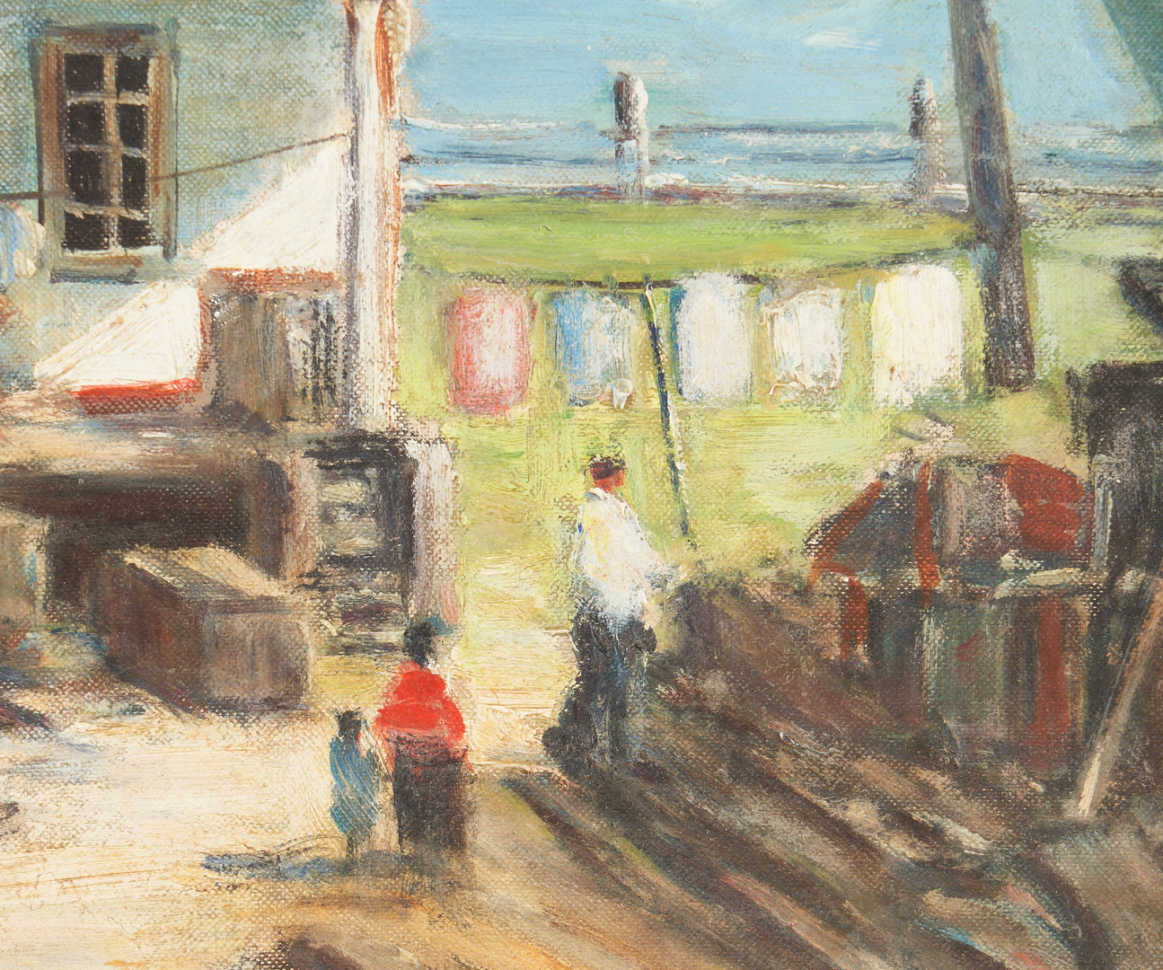 Lot 376: Exhibited John Enser O/B, the Boat Builder's House