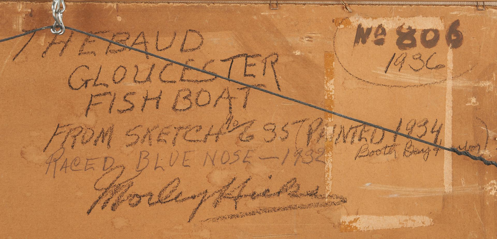 Lot 379: Morley Hicks O/B, The Gertrude Thebaud, Gloucester