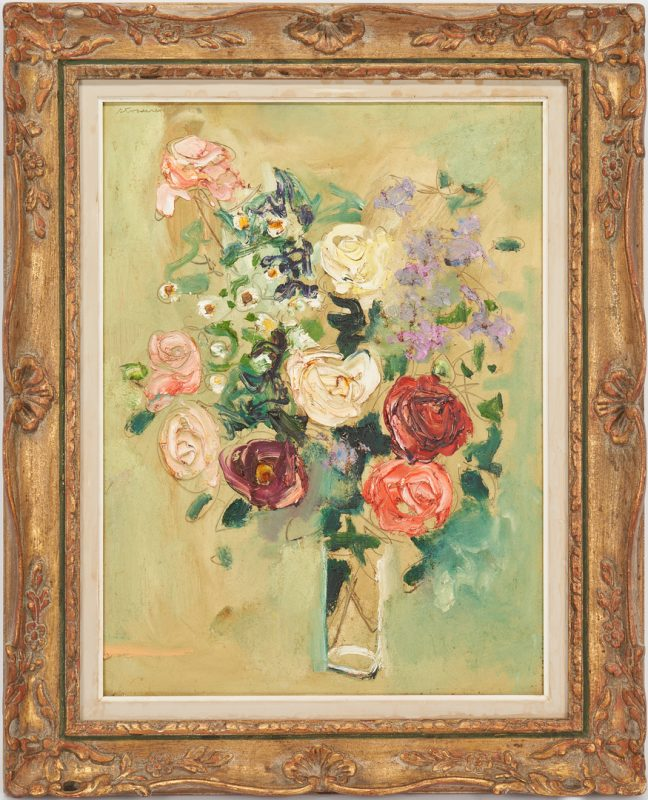 Lot 383: Sterling Strauser O/B, Floral Still Life Painting