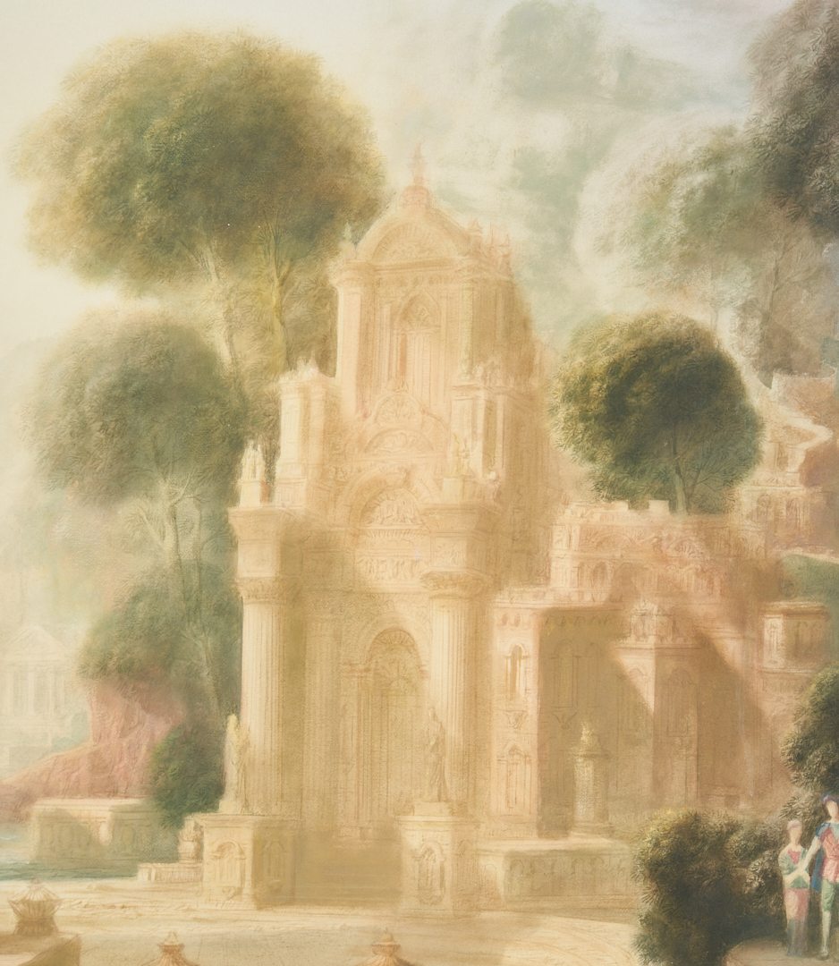 Lot 391: H. Hitchcock watercolor painting, The Shrine of St. Francis