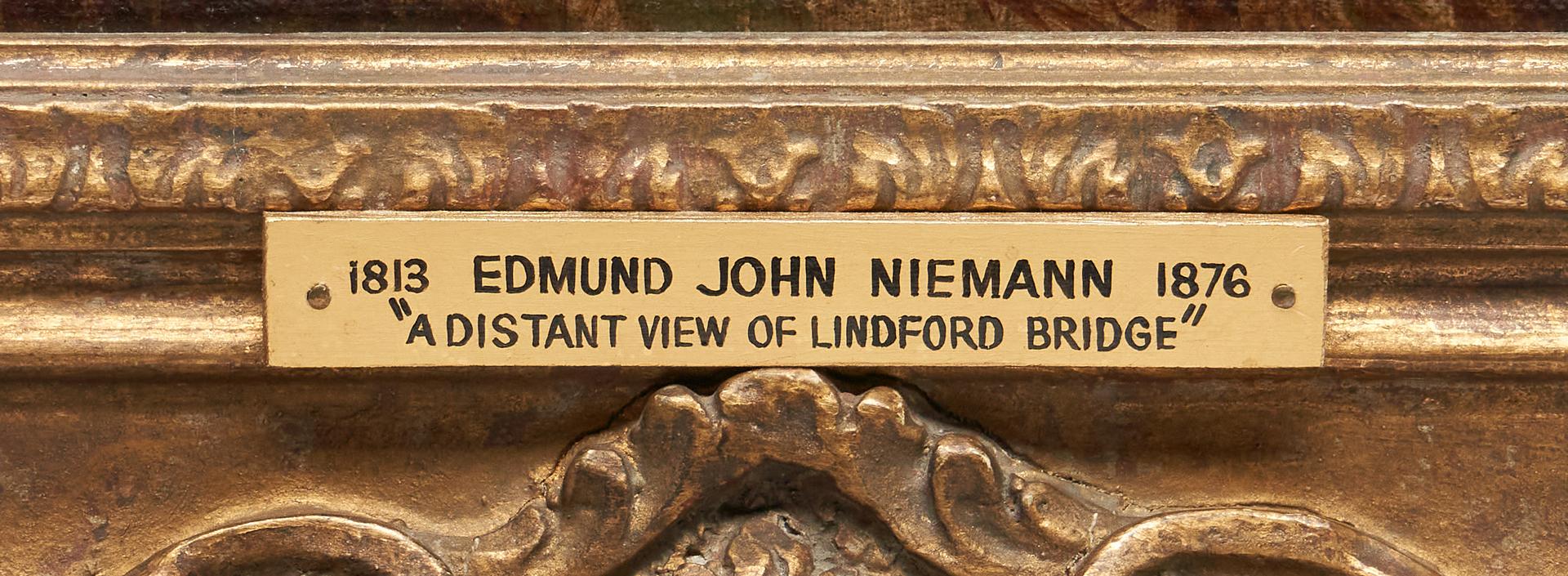 Lot 392: Edmund Johann Niemann O/C, View of Lindford Bridge
