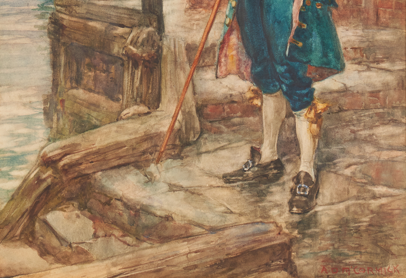 Lot 394: A.D. McCormick and A. Varley, 3 Watercolors