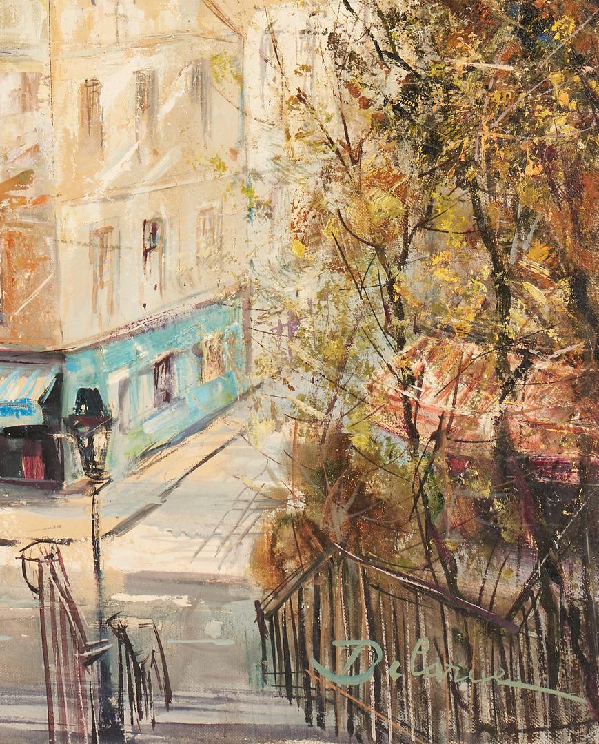 Lot 397: Lucien Delarue O/C Painting, Montmartre, Paris