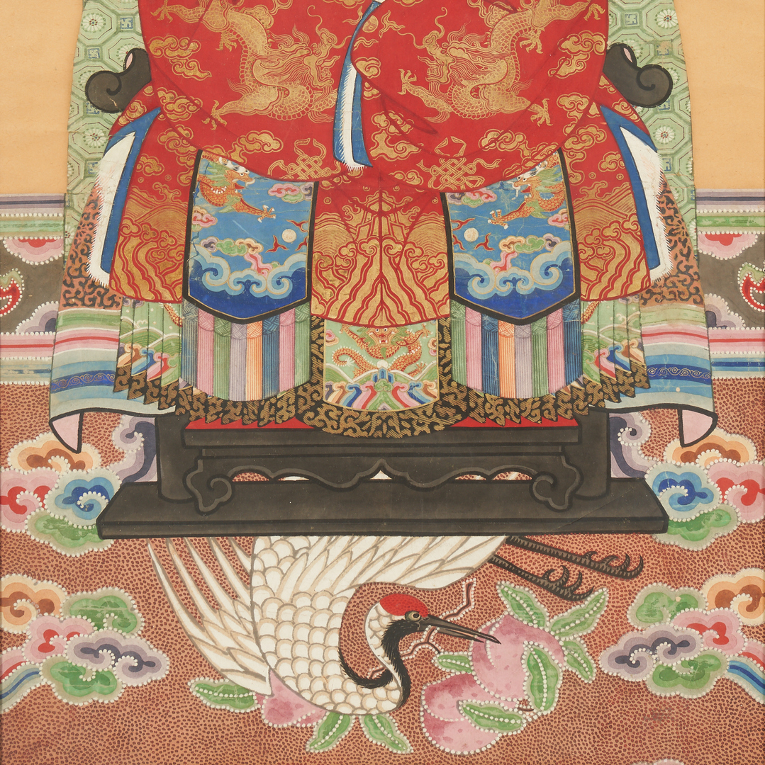Lot 399: Pair of Chinese Ancestral Portrait Paintings
