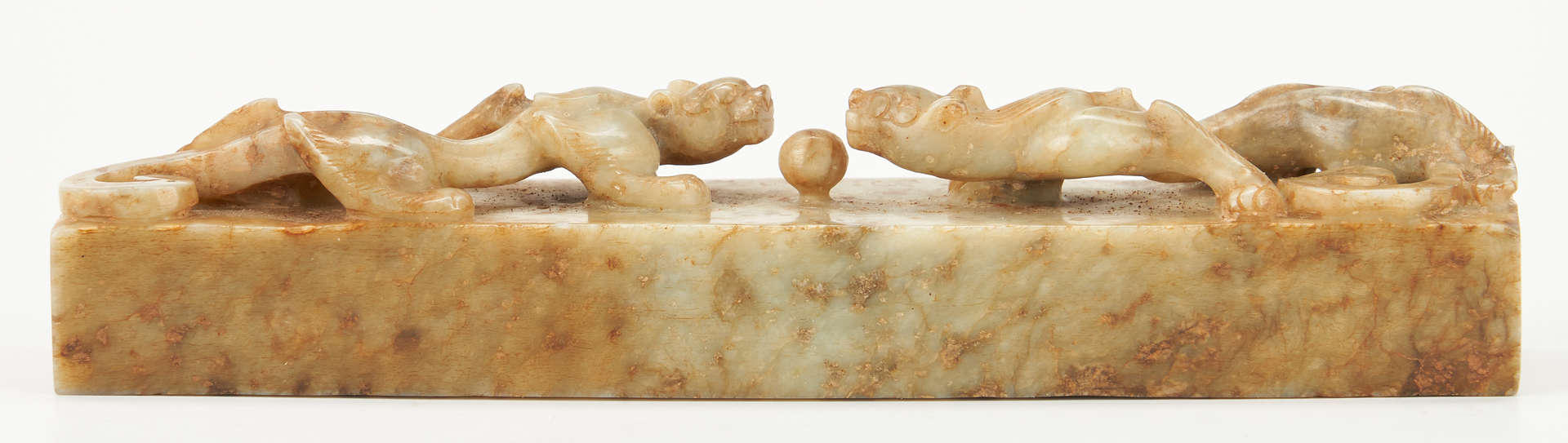 Lot 406: Chinese Jade Chilong Scroll Weight
