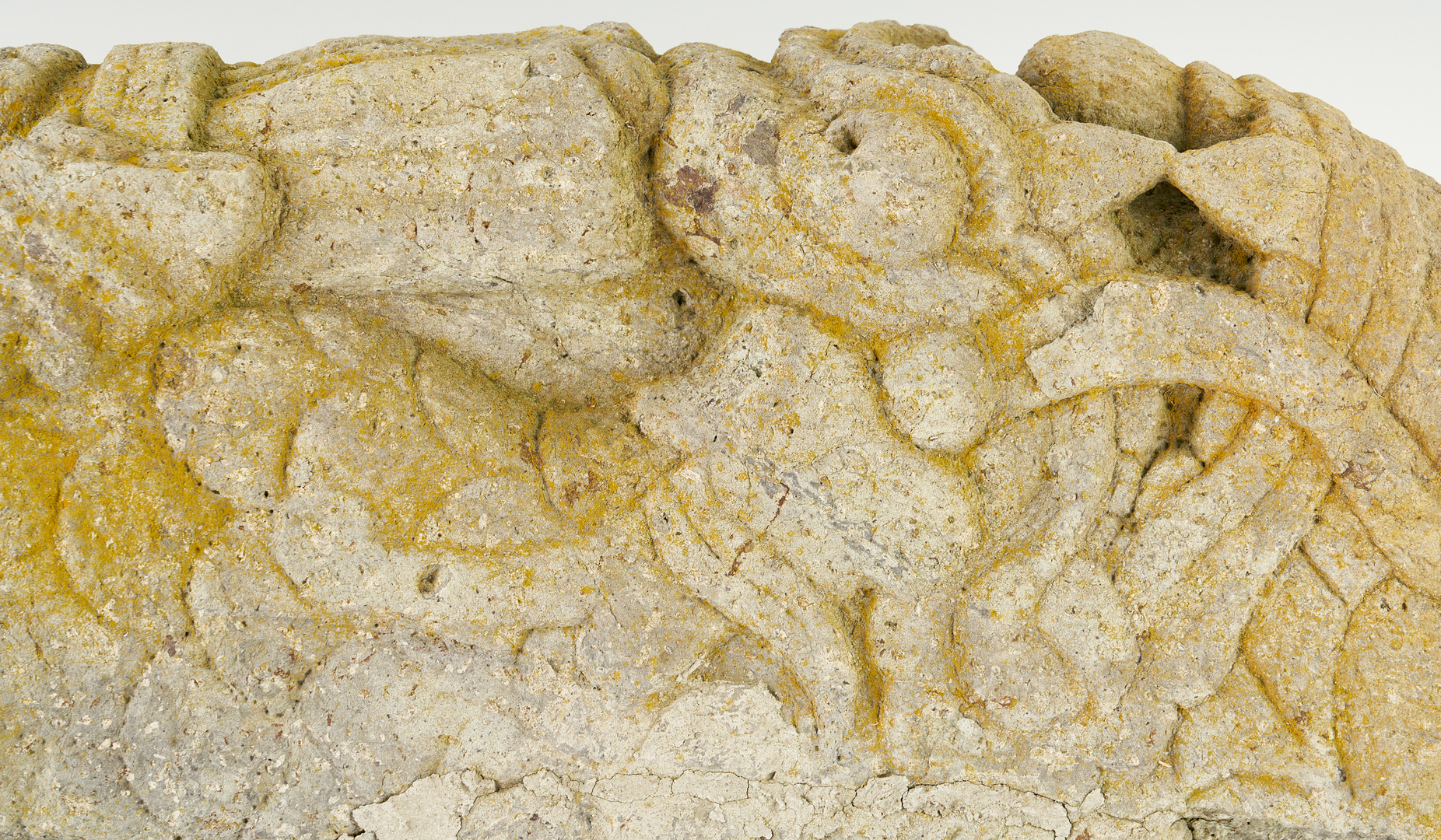 Lot 408: Chinese Stone Sculpture Fragment, Temple Attendant w/ Dragon