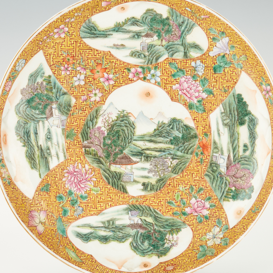 Lot 40: Chinese Republic Period Famille Rose Charger