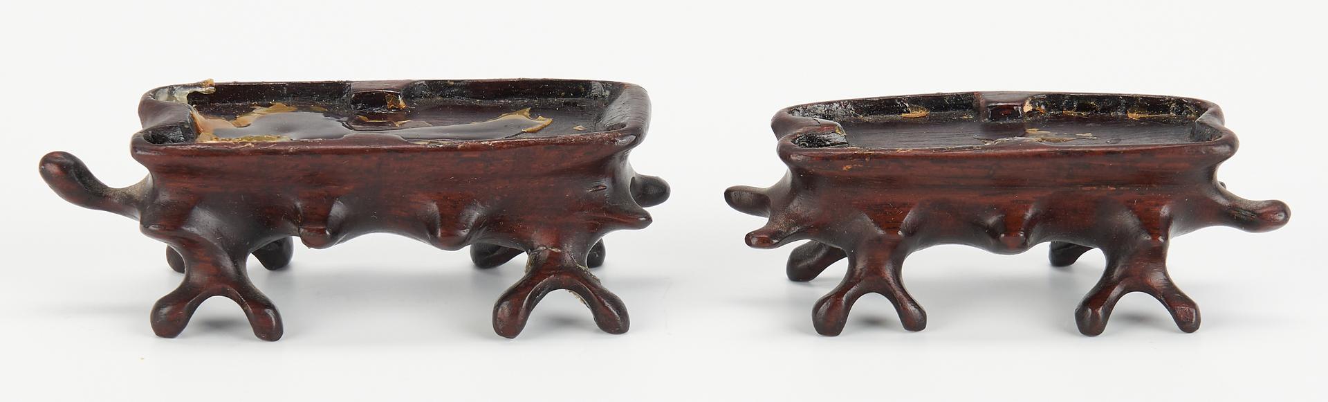 Lot 413: Pr. Chinese Quan Yin Sculptures & Pr. Carved Rams