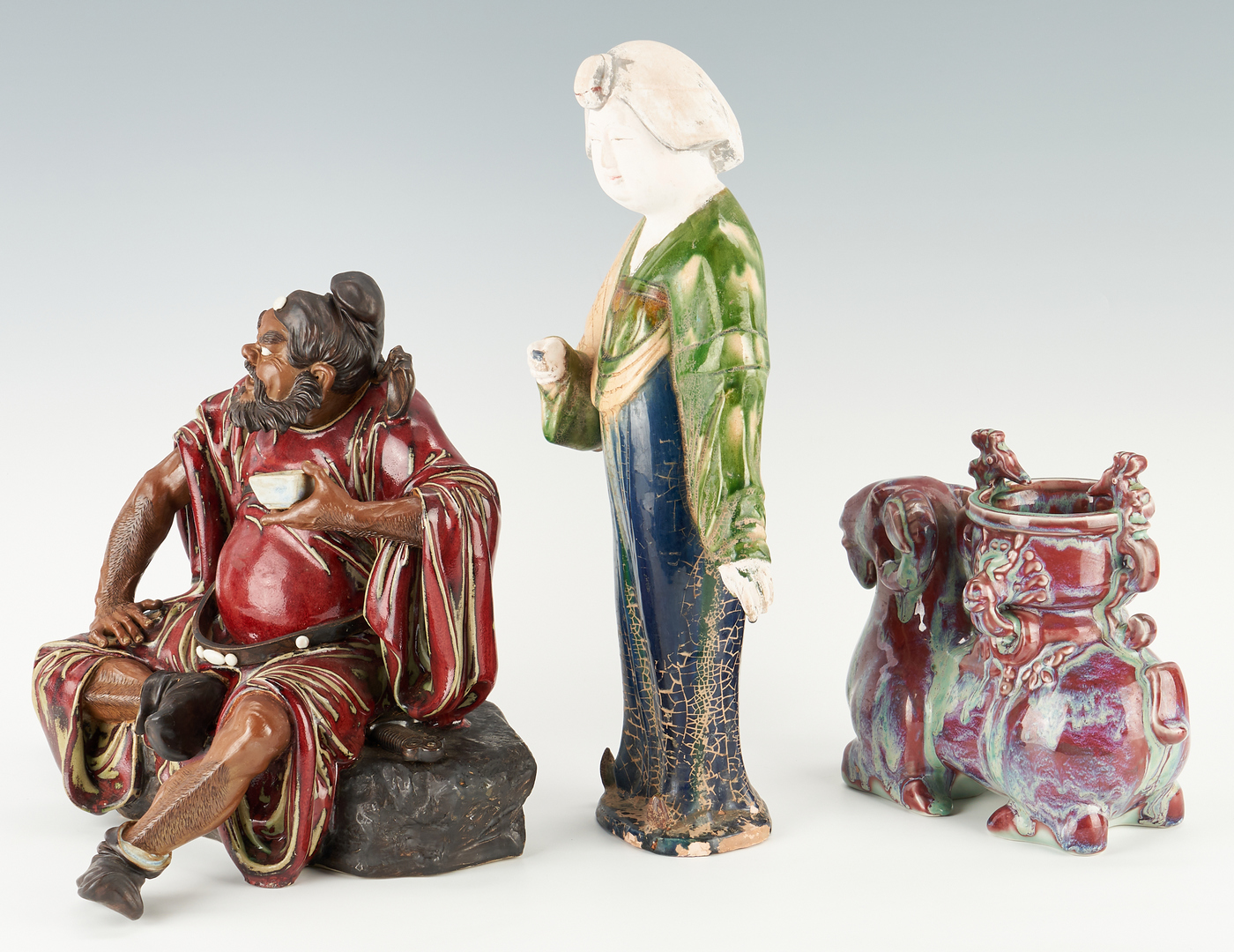 Lot 417: 5 Chinese Porcelain & Ceramic Items, World's Fair Exhibited