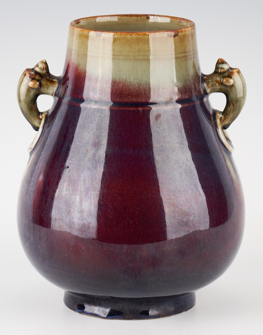 Lot 419: Chinese Flambe Hu Vase