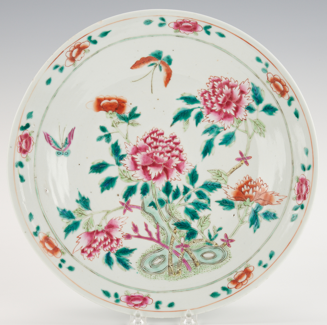 Lot 421: Chinese Export Famille Rose Porcelain Plate and Charger