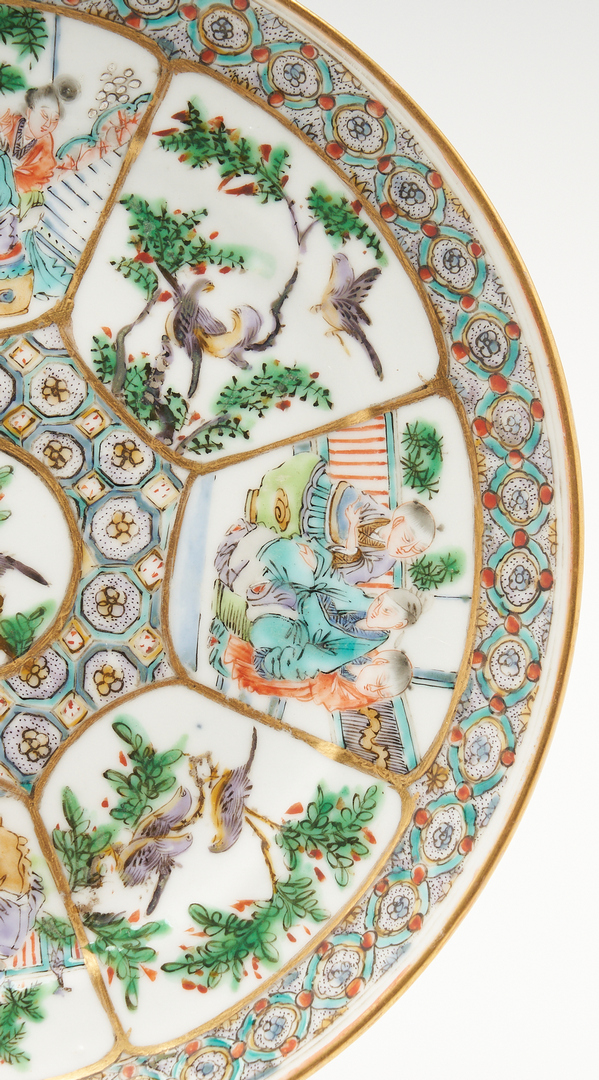 Lot 422: Chinese Export Porcelain Plate & Oval Dish
