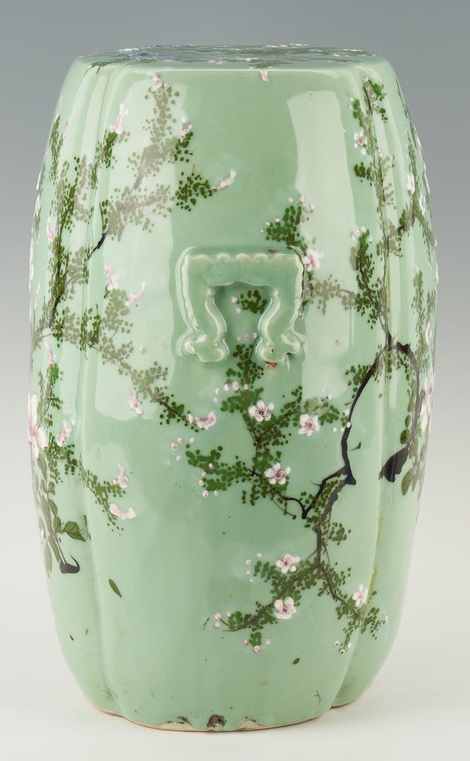 Lot 427: Chinese Celadon Porcelain Garden Stool