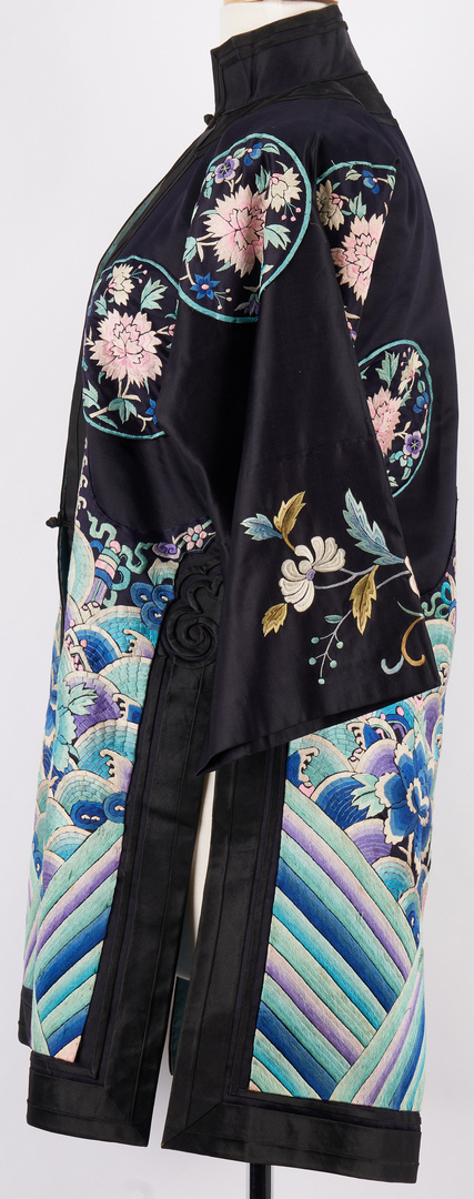 Lot 433: Chinese Embroidered Silk Court Robe