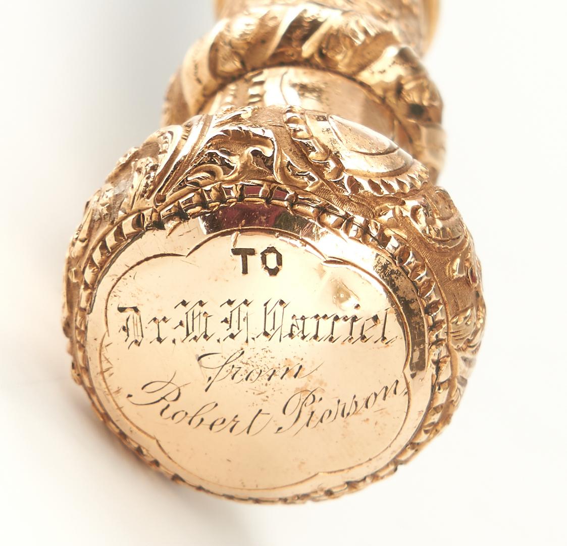 Lot 436: Elgin Pocket Watch & 3 Canes, incl. 14K Gold