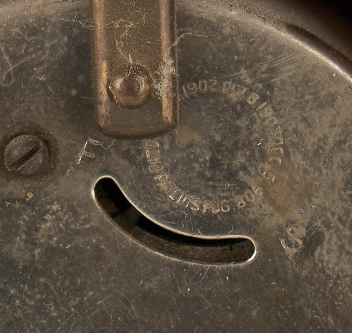 Lot 438: English Miniature Chest, Chinoiserie Pocket Watch Holder, & Santos Figure, 3 items