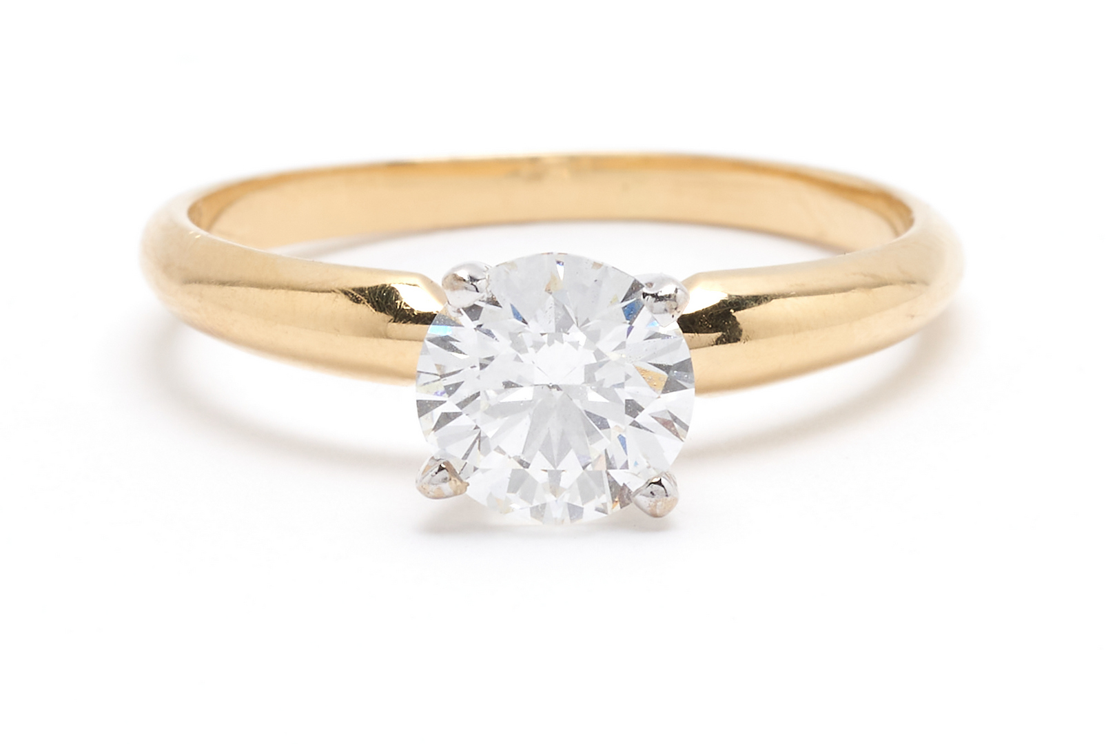 Lot 43: 1.03 Carat GIA Diamond Ring, F Color and 18K Dia. Band