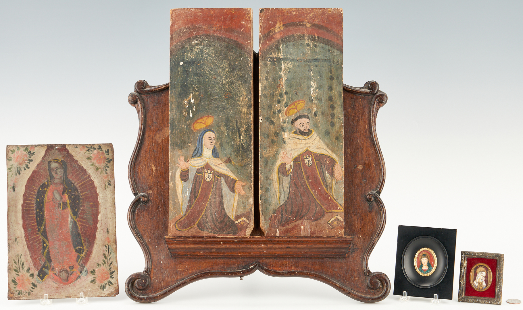 Lot 440: Group of 5 Religious Images & Display Easel