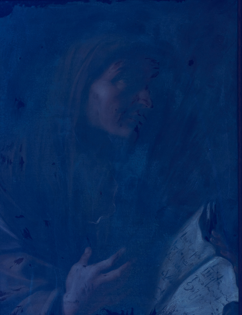 Lot 443: Continental School O/C Painting, Saint w/ Book