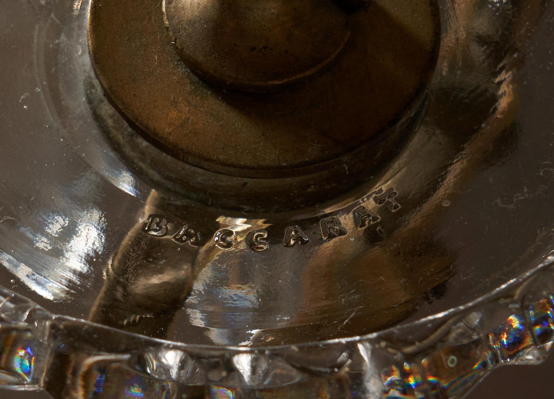 Lot 447: Large Baccarat signed Crystal and Bronze 30 Light Chandelier