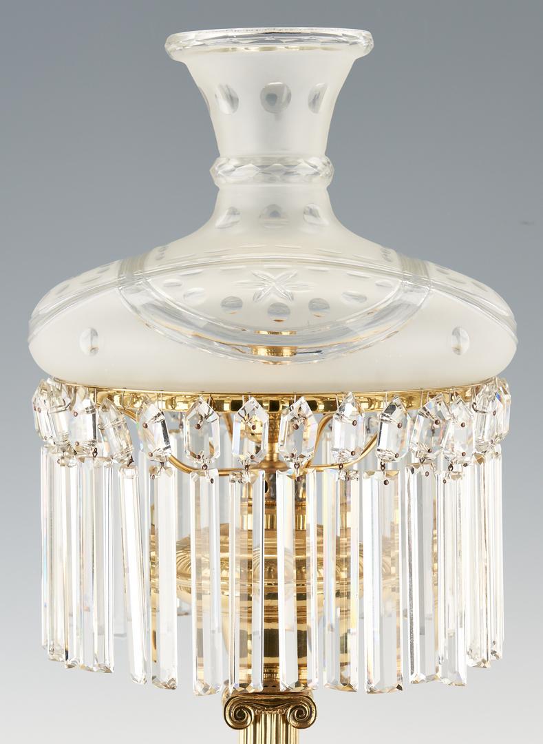 Lot 449: Brass Astral Lamp w/ Prisms