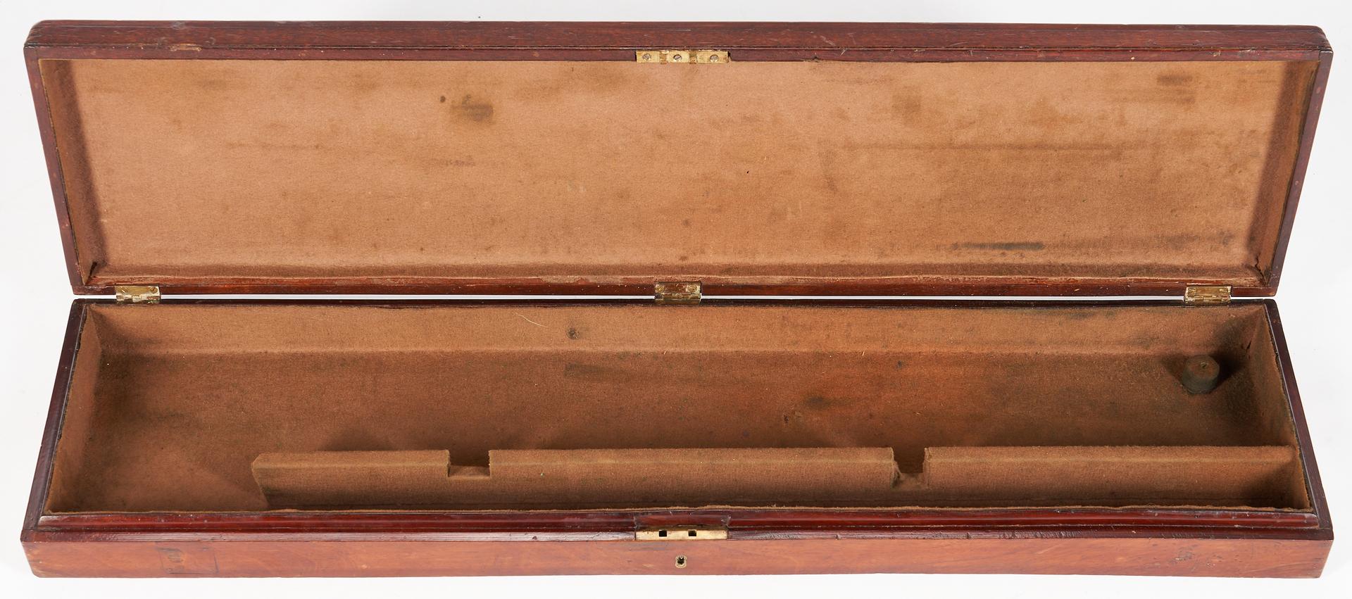 Lot 450: Mahogany Gun Case on Stand