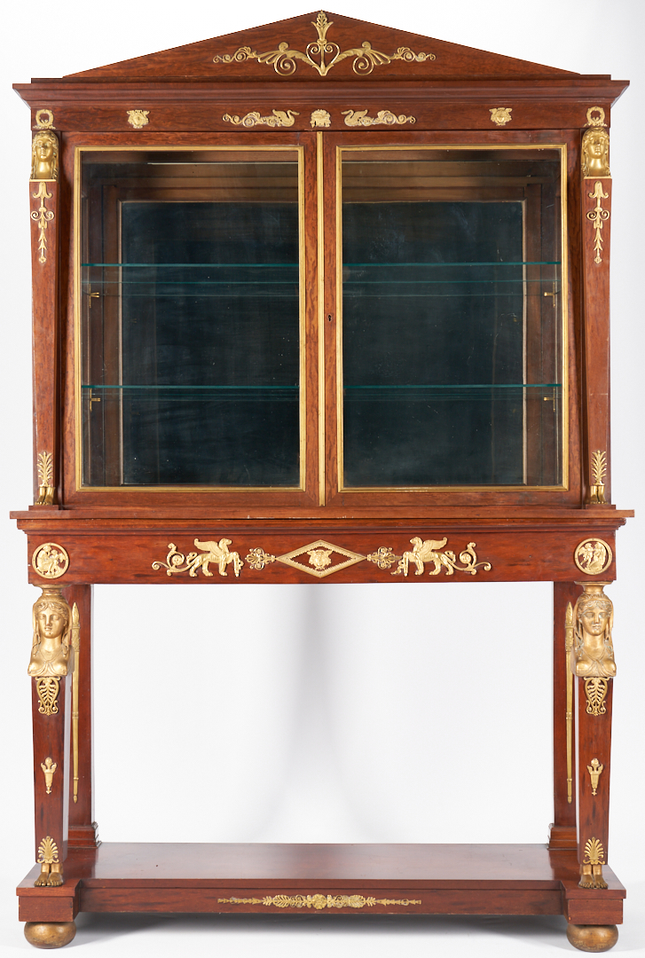 Lot 453: Egyptian Revival Bronze Mounted Cabinet