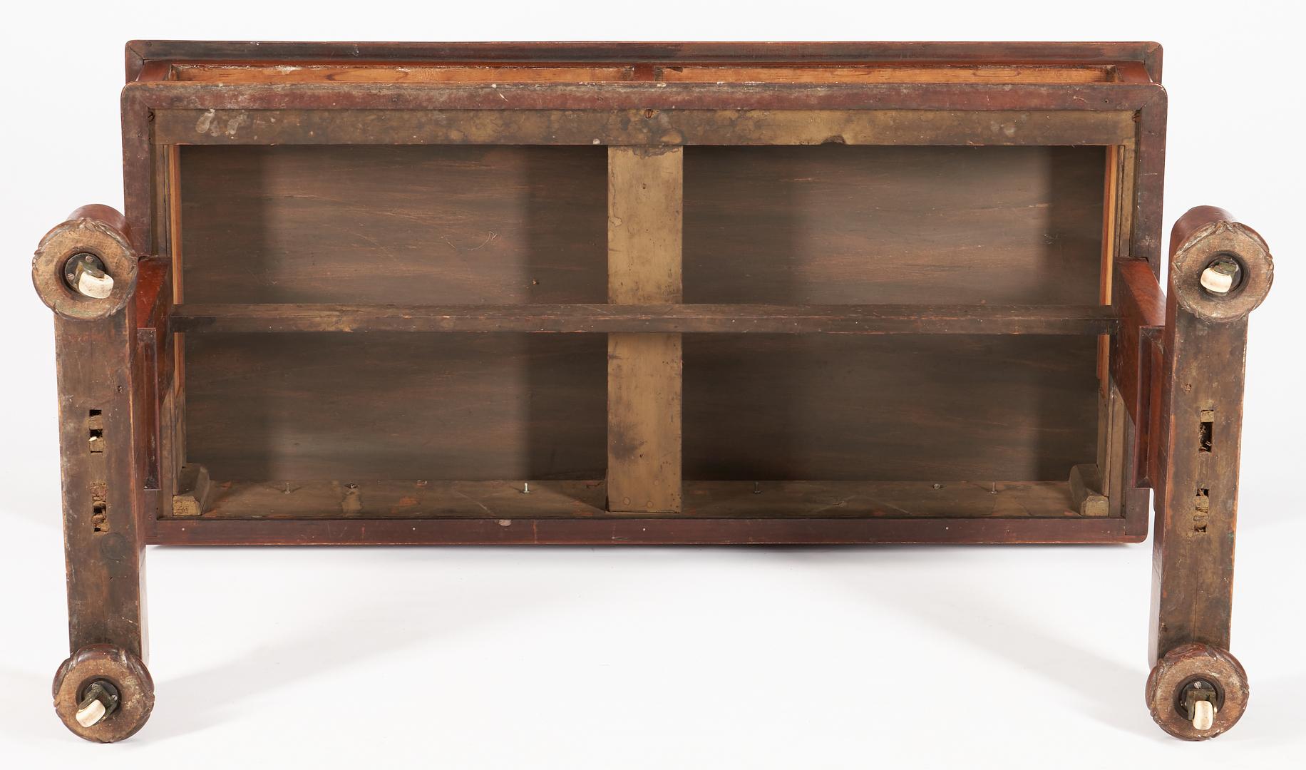 Lot 454: Regency or William IV Mahogany Writing or Sofa Table