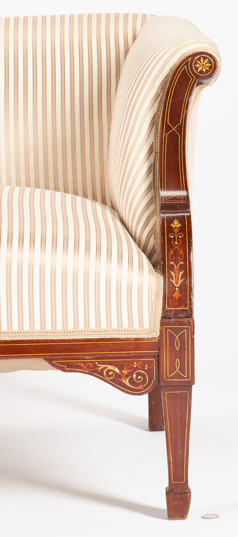 Lot 455: Inlaid Neo-Grec or Edwardian Style Settee or Sofa