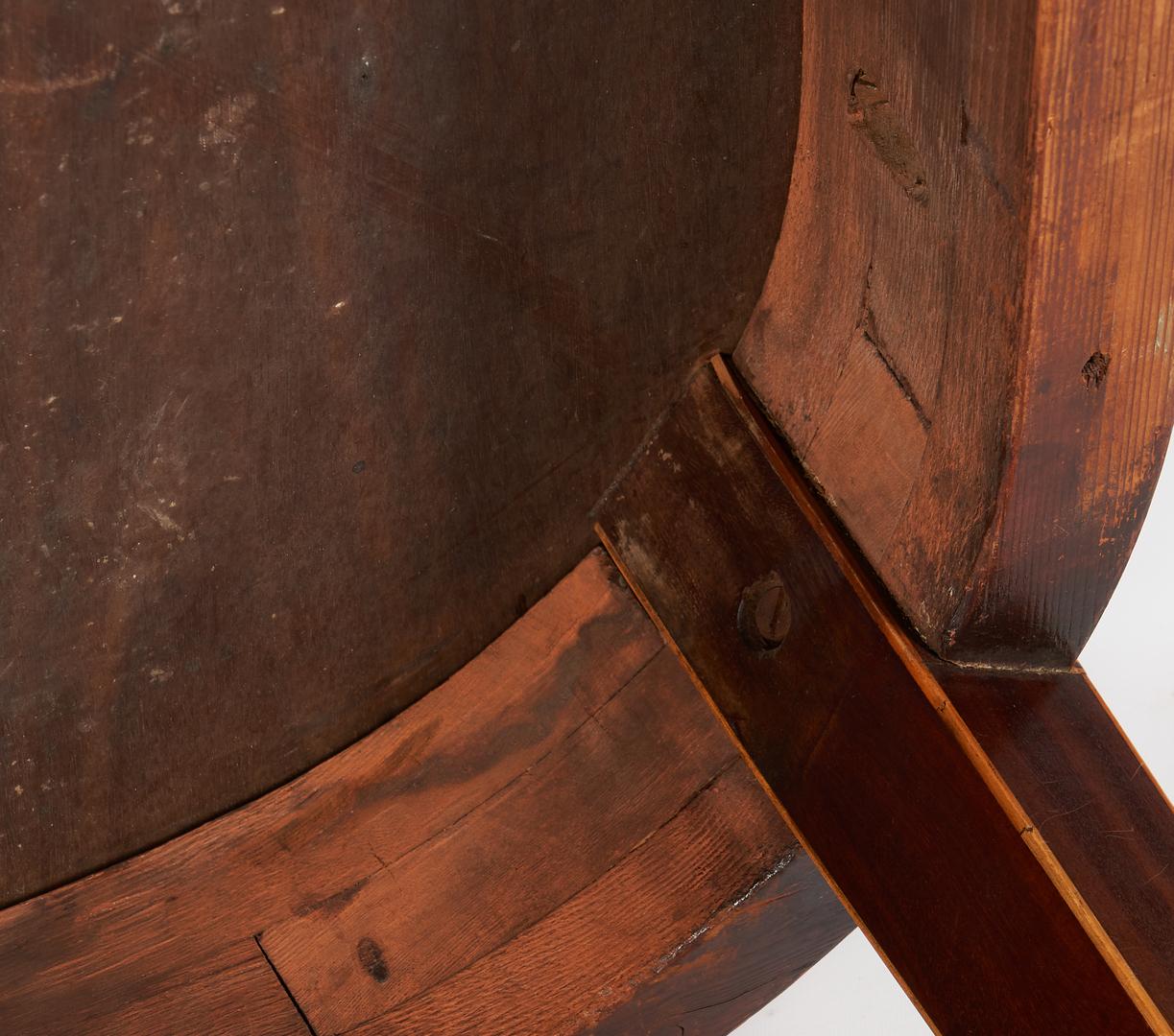 Lot 458: George III Inlaid Demilune Card Table