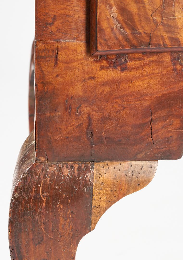 Lot 459: British Figured Walnut Lowboy or Dressing Table