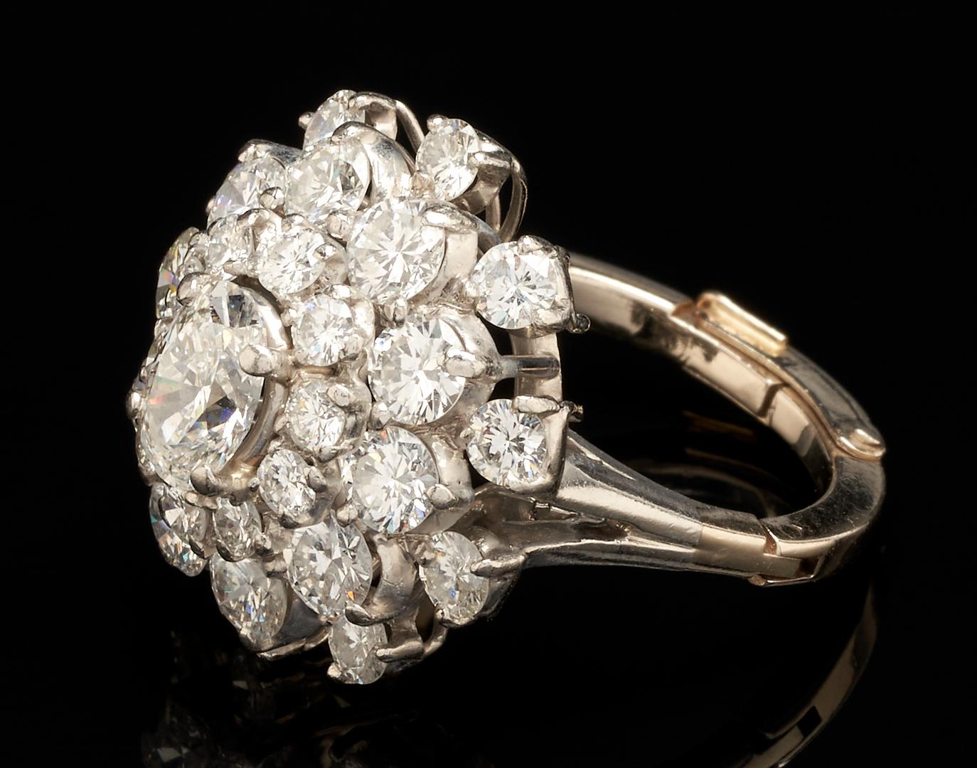 Lot 45: Platinum & 14K 4.31 Ct. Diamond Ring, attrib. O. Heyman
