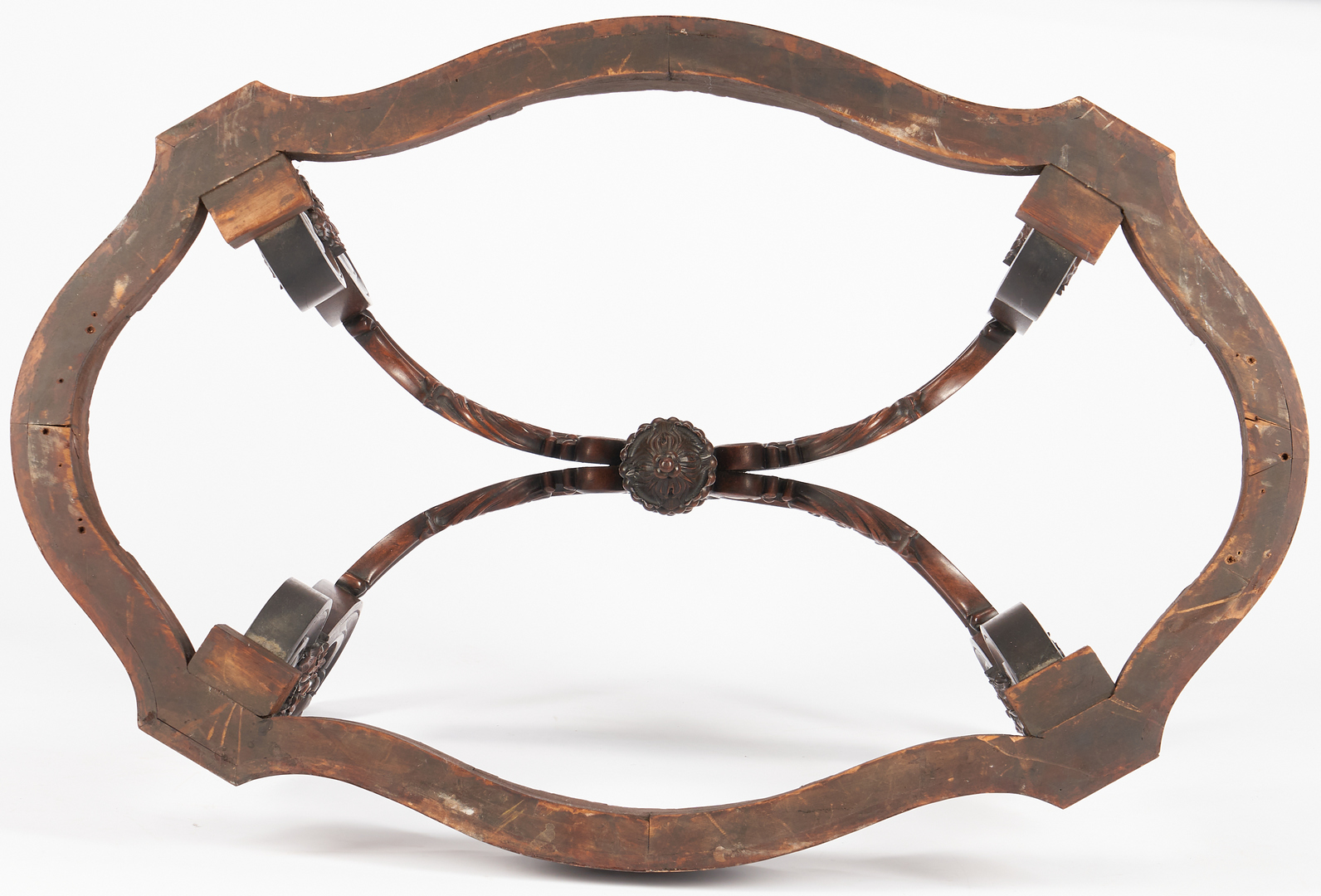 Lot 460: Victorian Rosewood Center Table, Portoro Marble Turtle Top