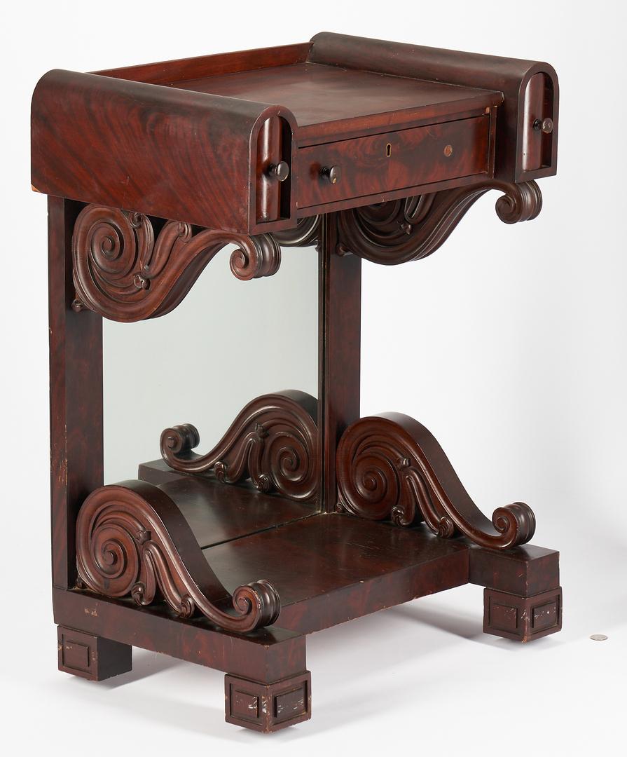 "Lot 461: American Classical Revival Miniature Pier Table or Petite ""Petticoat"" Table"