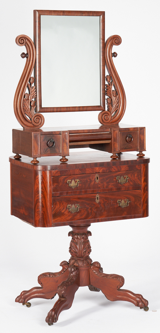 Lot 462: Classical Work Table & Dressing Mirror, 2 items