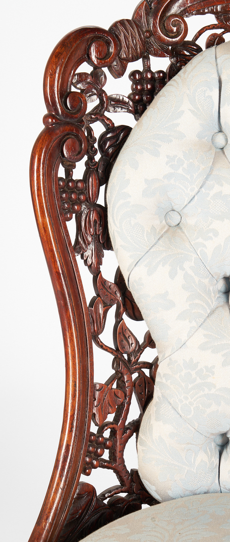 Lot 463: 2 Victorian Rosewood Side Chairs, attrib. Baudouine & Belter