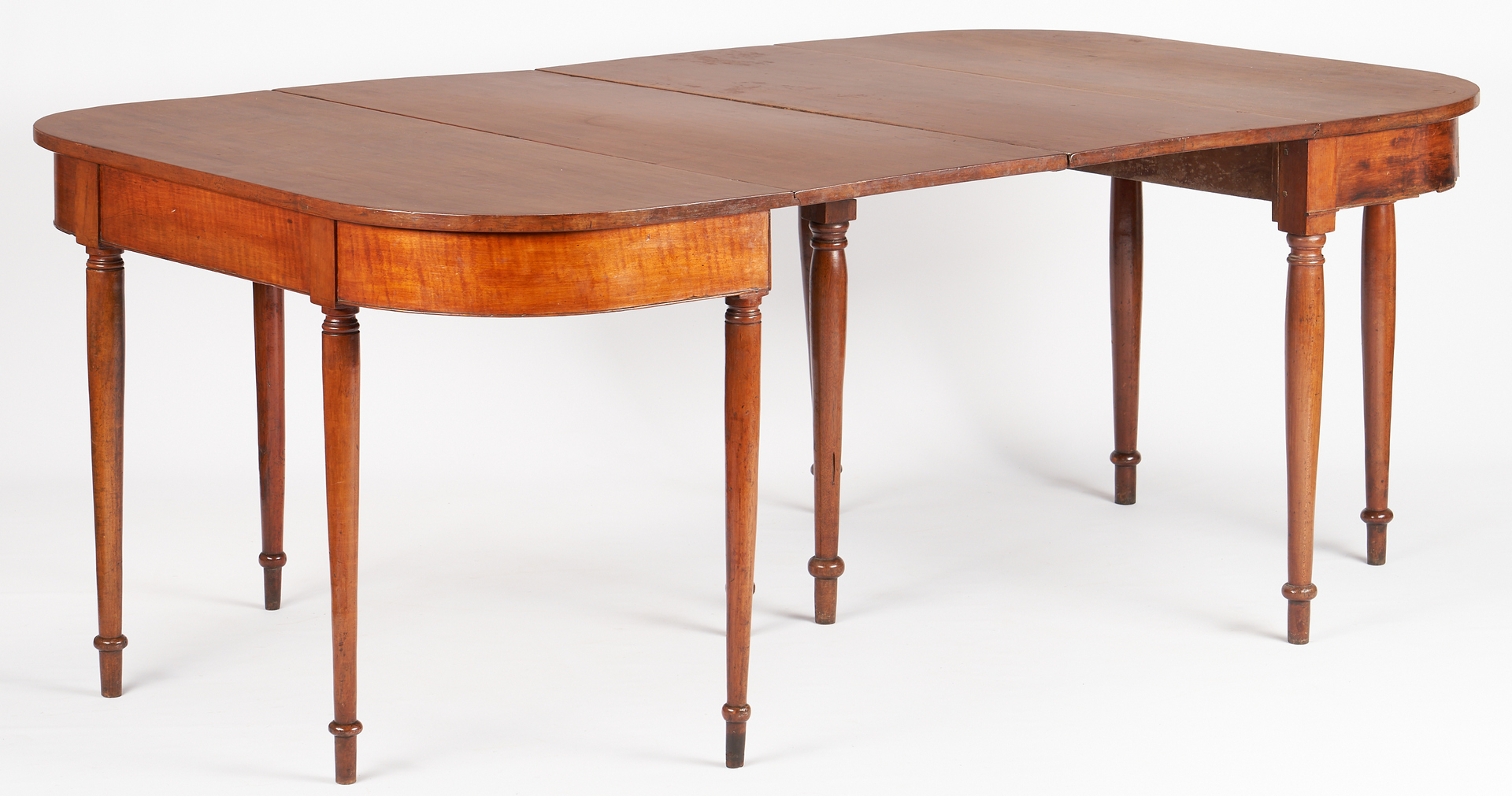 Lot 473: East TN Sheraton Banquet Ends Dining Table, Hawkins Co.