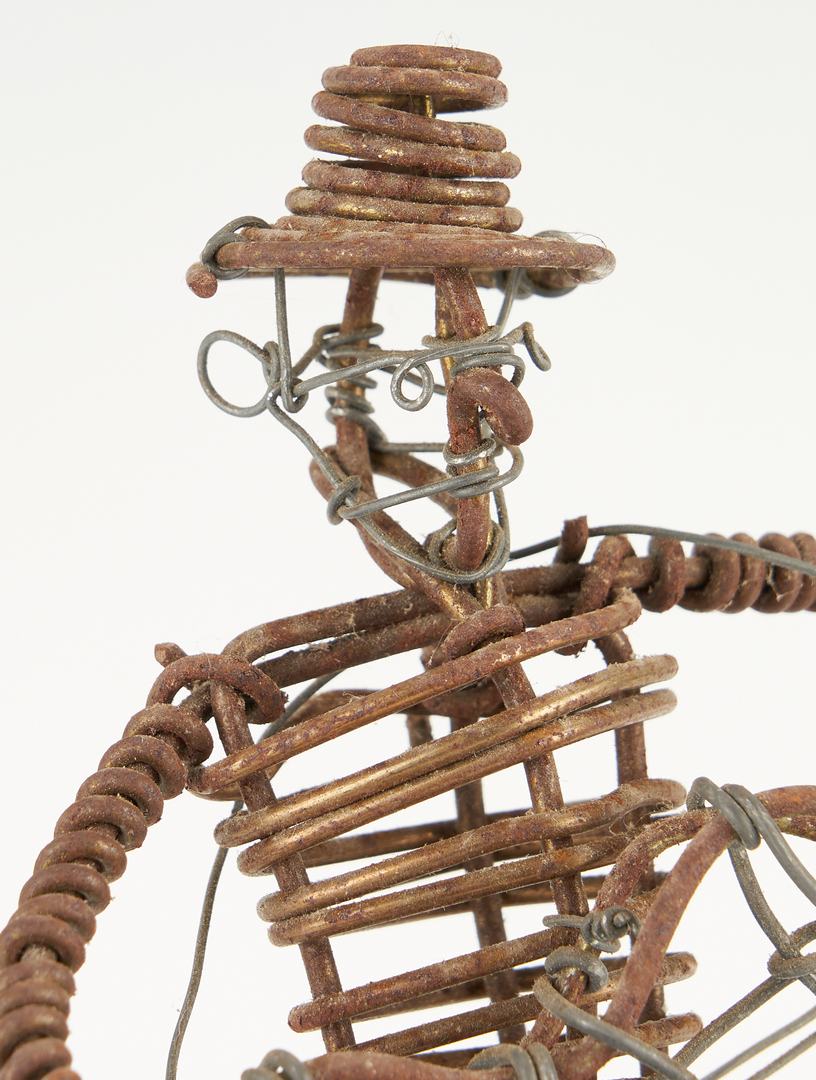 Lot 474: Vannoy Streeter Six-Piece Band Wire Sculptures