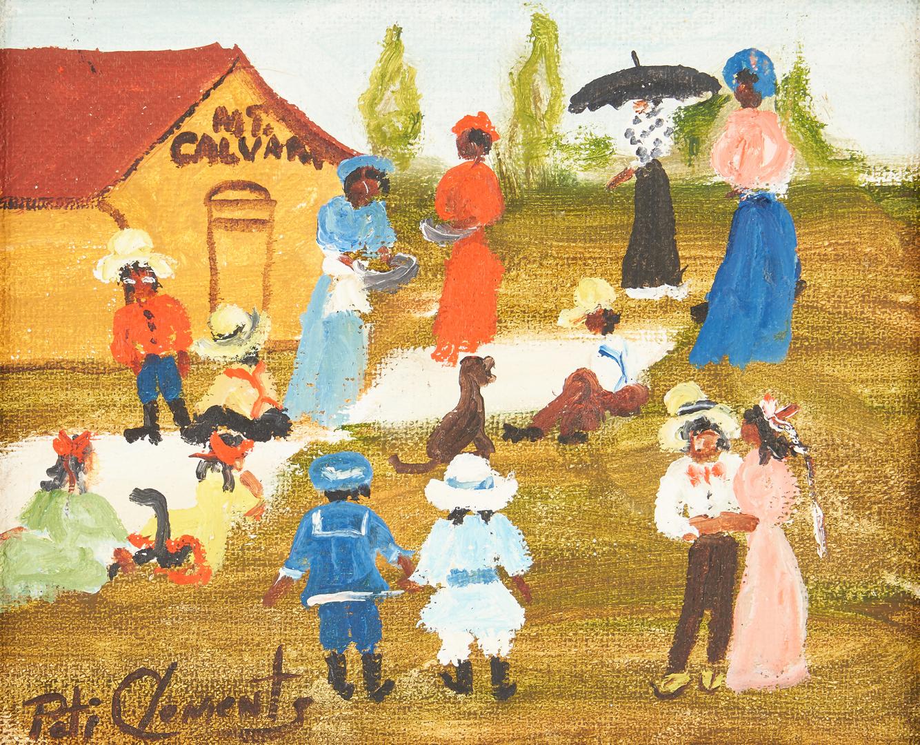Lot 476: 6 Peti Clements Alabama Outsider Art Paintings