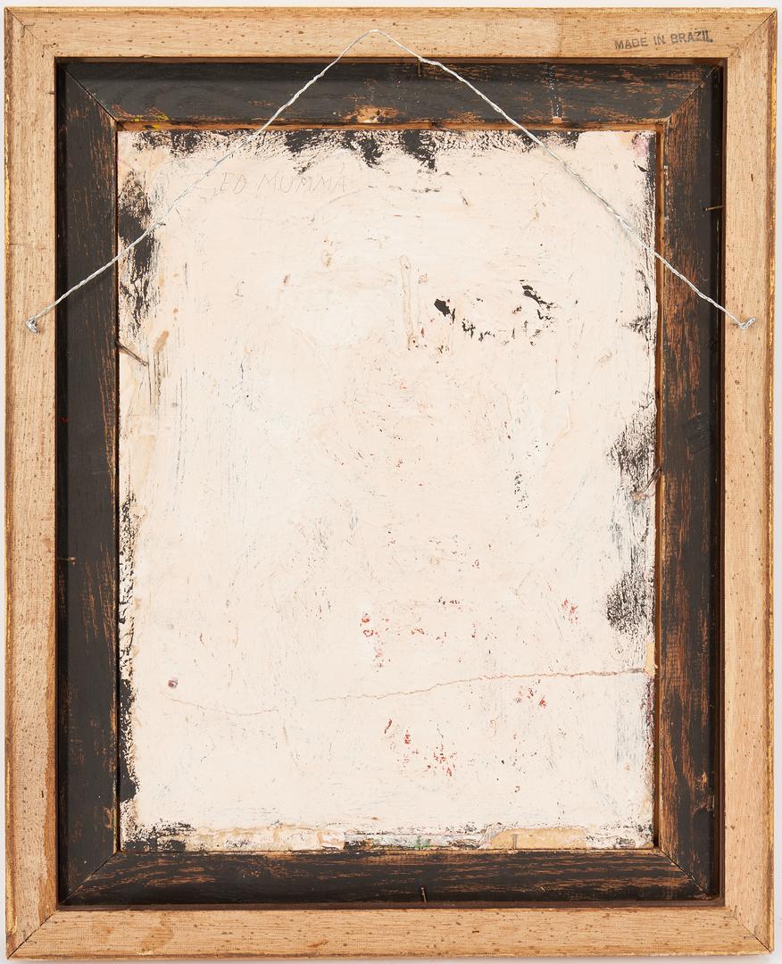 Lot 479: Eddy Mumma Outsider Art Painting of a Woman