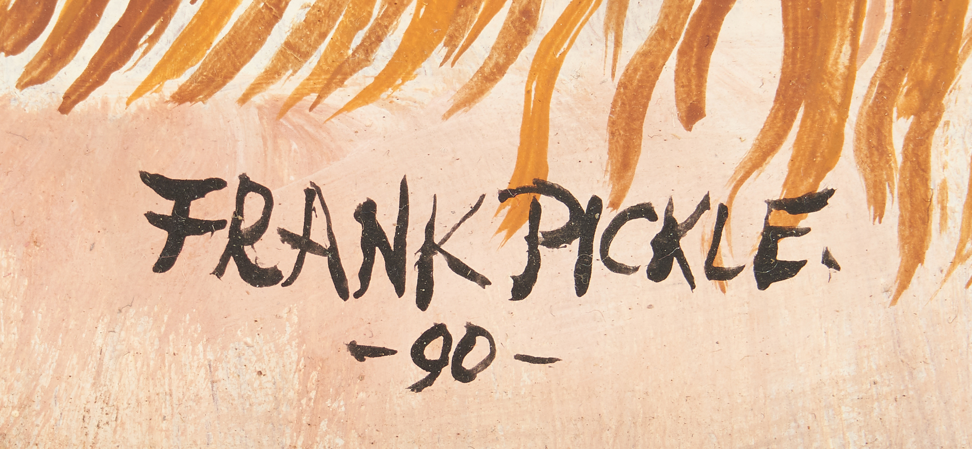Lot 483: Frank Pickle Outsider Art Painting, Native American
