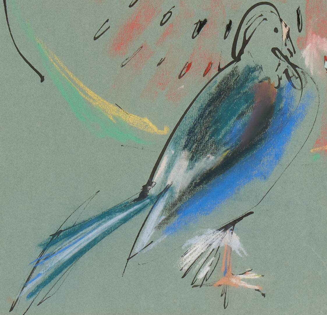Lot 484: 5 Bird Related Works on Paper, incl. Dan Miller