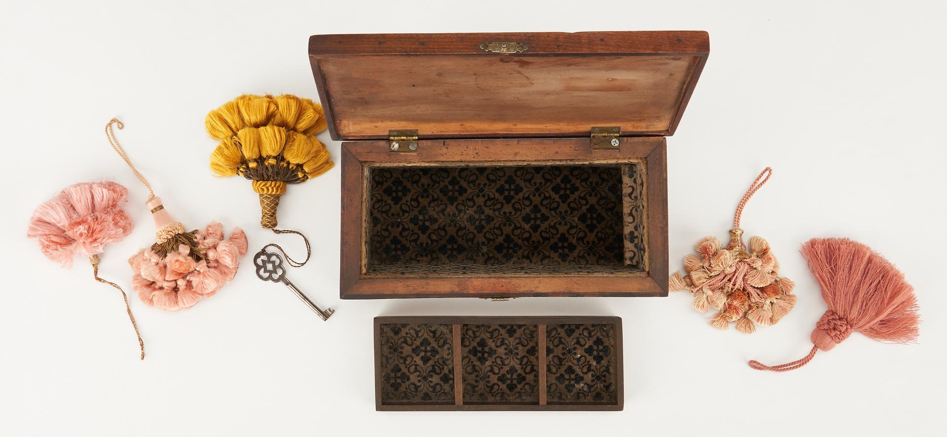 Lot 485: 2 Wooden Boxes, incl. Miniature Chest, Tea Caddy