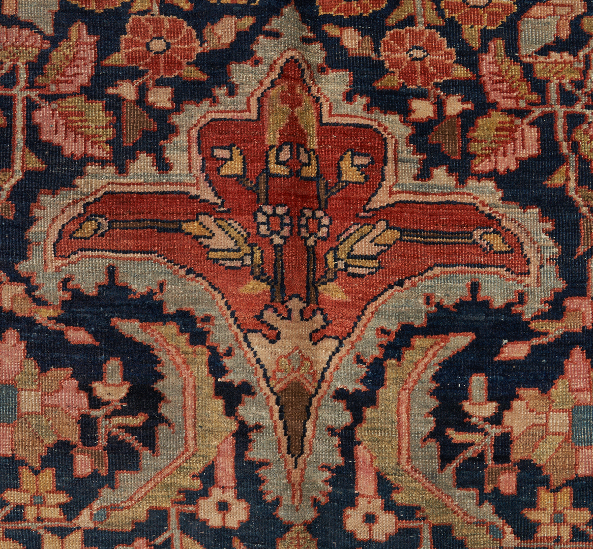 Lot 487: Antique Persian Sarouk Rug or Carpet, 13' x 10'