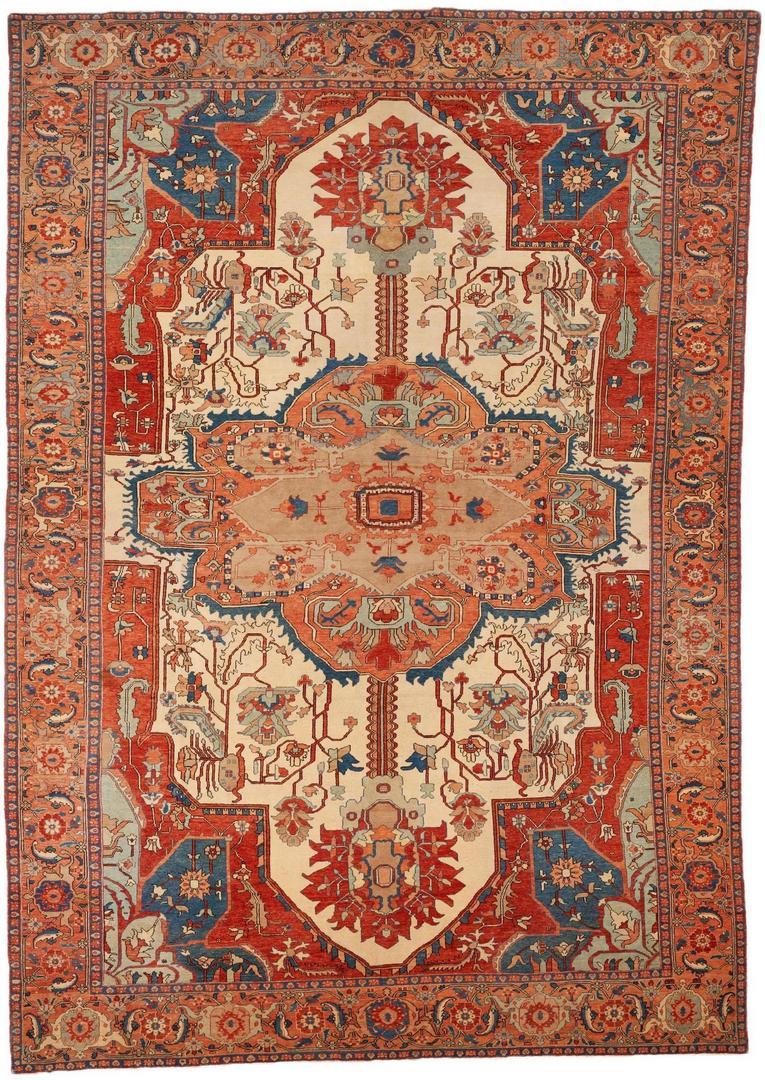 Lot 488: Large Turkish Rubia Carpet or Rug, Woven Legends