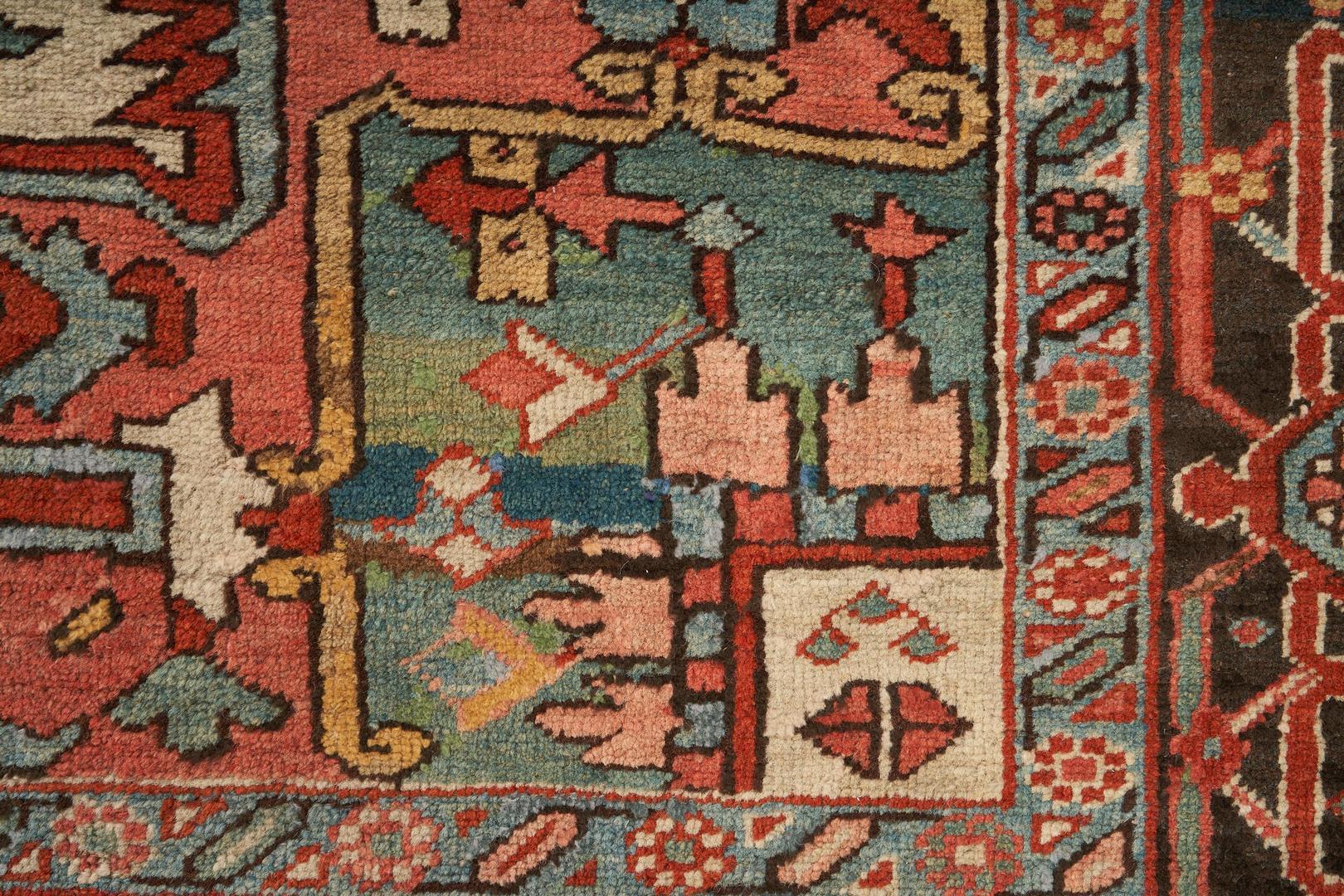 Lot 489: Persian Heriz Rug or Carpet, 9×12